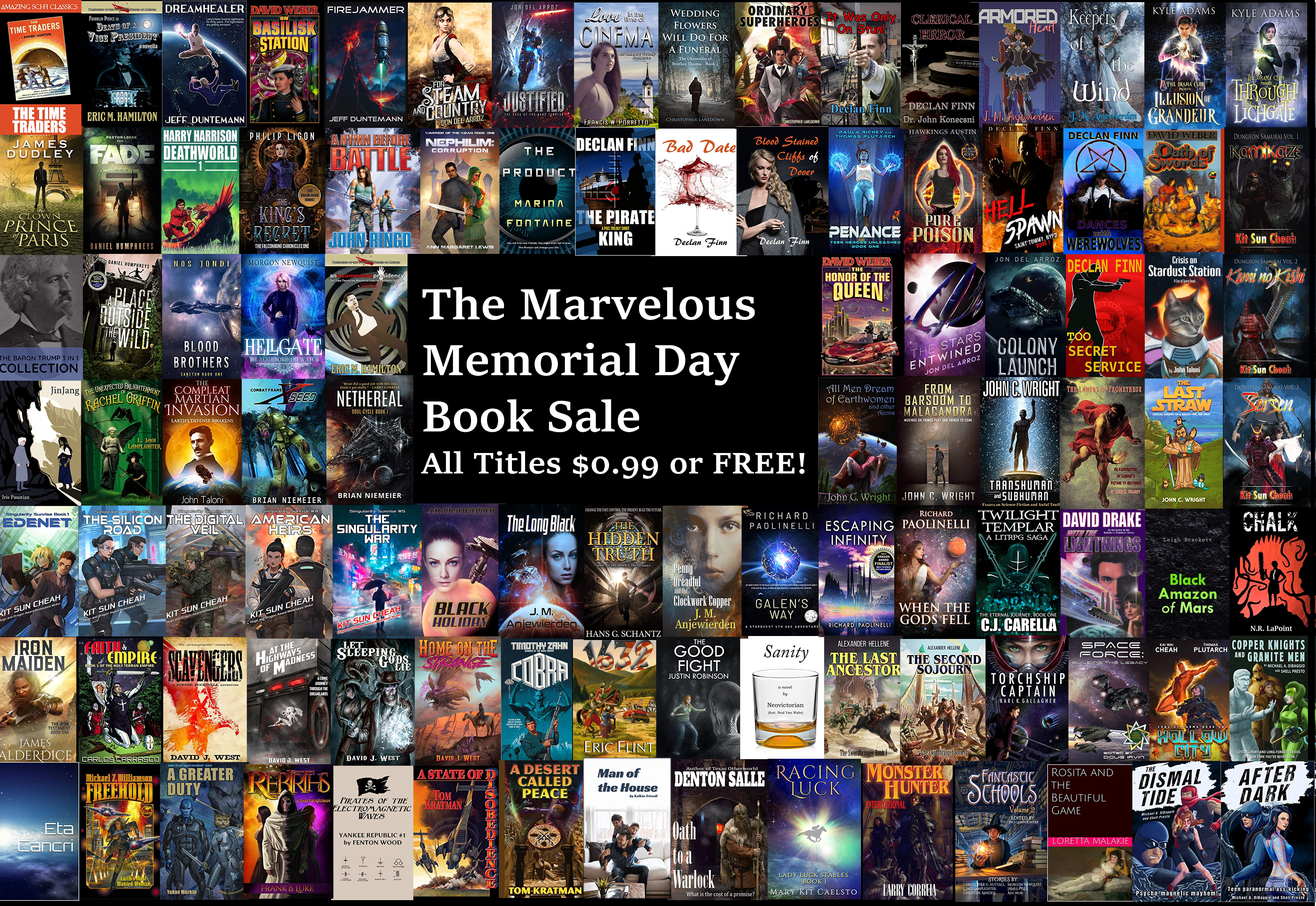 The Marvelous Memorial Day $0.99 (or Free!) Book Sale